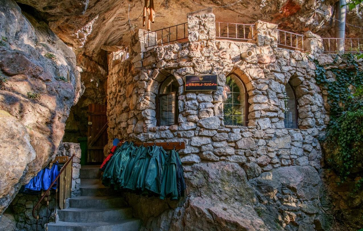 Достопримечательности Крыма - Вход в пещеру