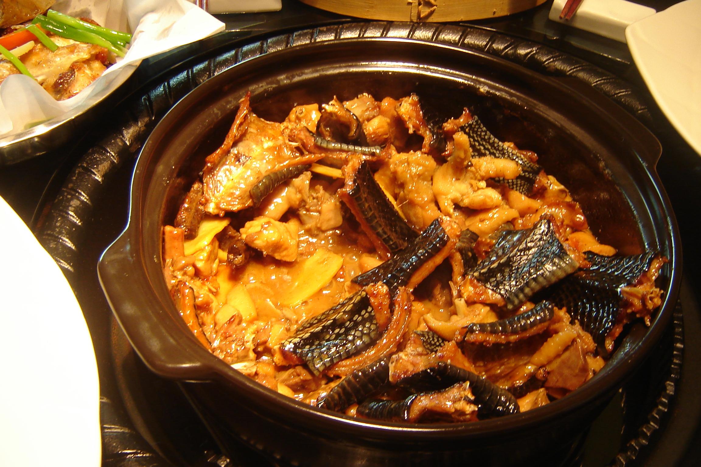 Китайская кухня - Блюдо из змей
