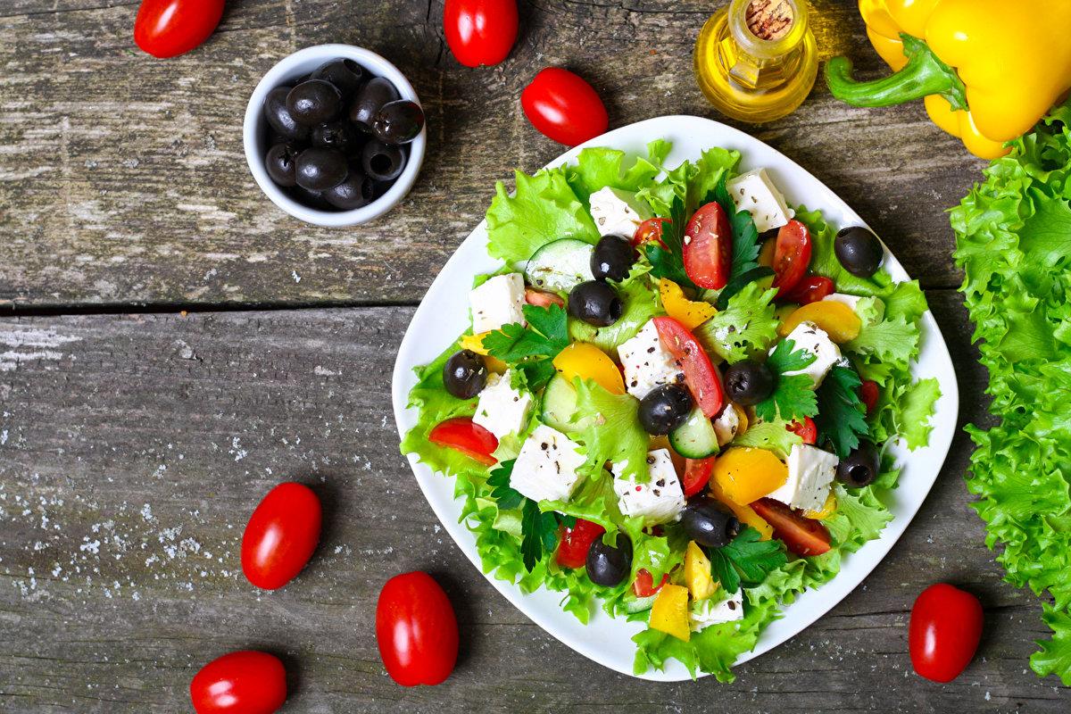 История греческой кухни-греческий салат