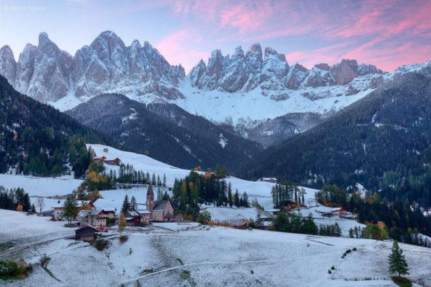 Альпийские склоны в Италии