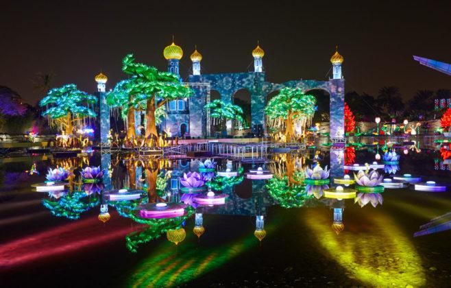 Светящийся парк Garden Glow в Дубае